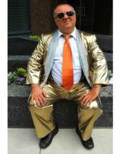 Gold Shiny Pattern Shawl