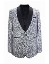 Priced Mens Printed Unique Patterned Print Floral Tuxedo Flower Jacket Prom