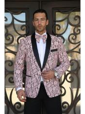 Priced Mens Printed Unique Patterned Print Floral Tuxedo Flower Jacket Prom custom celebrity modern Tux Pink