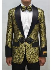 Mens Printed Unique Patterned Print Floral Tuxedo Flower Jacket Prom custom