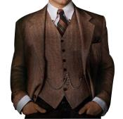 Mens Great Gatsby Vested Mens Clothing Costumes Suits Costumes Outfit Male Attire