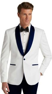 Single Breasted Dark Navy Slim Fit Tuxedo Dinner Jacket