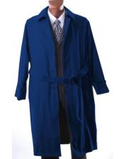 Big And & Tall Trench Coat Dark Navy Blue