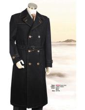 Big And & Tall Trench Coat Black