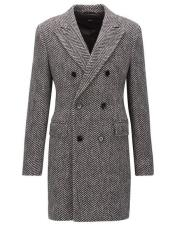 Wool Winter Coats Designer Mens Wool Peacoat Sale Duster Style Grey