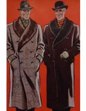 Alberto Nardoni Mens Big and Tall Topcoat ~ Overcoat ~ Wool Winter Coats Peacoat Duster Style Solid