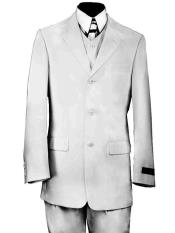 Formal Citywalker 3pc Zoot Suit Set Black or White Hat
