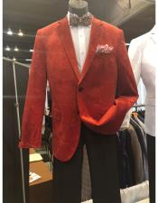 Mens Red Two Button Suit
