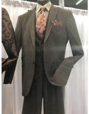 Mens GreyTwo Button suit