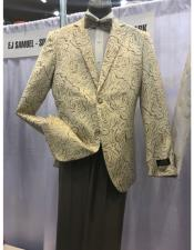 Cream Single Breasted Two Button Suit
