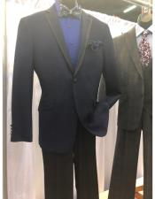 Dark Blue Single Breasted Suit