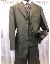Mens Three Button  Grey  Suit