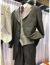 Single Breasted Black Four Button Suit