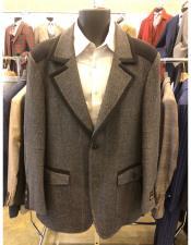 Mens  Two Button Grey Suit