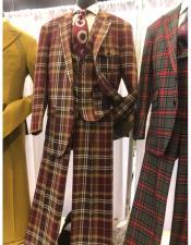 Mens Multi Color Suit