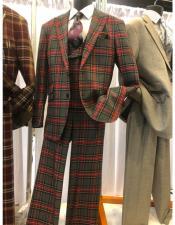 Mens Two Button  Multi Color Suit