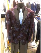 MensTwo Button Brown Suit