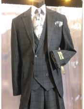 Mens Grey One Button  Suit