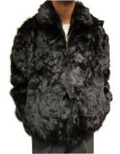 Fit Rabbit Fur Hooded