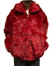 Fur Hooded Jacket Zip