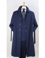 Coat Full Length Pinstripe