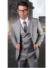 Mens Gray One Button Suit