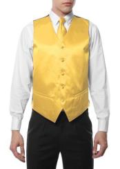 Mens 4PC Big and Tall Dress Tuxedo Wedding Vest ~ Waistcoat ~