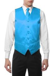 4PC Big and Tall Dress Tuxedo Wedding Vest ~ Waistcoat ~