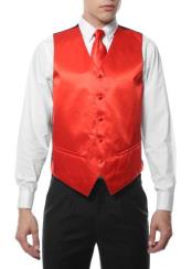 Mens 4PC Big and Tall Dress Tuxedo Wedding Vest ~ Waistcoat ~