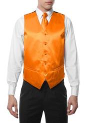Mens Gold Five Button Wedding Waist coat & Tie