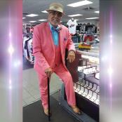 Mens Peak Lapel  Pink Suit