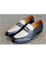 Mens Slip On Shoe Grey ~ White