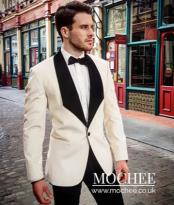 Breasted Shawl Lapel White