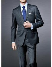 Notch Lapel Spectre Two Piece Suit Charcoal Grey James Bond Outfit