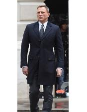 Dark Navy Blue Peak Lapel Spectre James Bond Coat