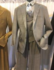 Notch Lapel Single Breasted Den Suit