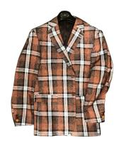 Mens Plaid  Window Pane Blazer Sport Coat