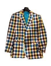 Plaid  Window Pane Blazer Sport Coat