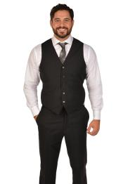 Black Dress Tuxedo Wedding Vest ~ Waistcoat ~ Waist coat &