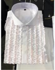 Down Tuxedo White~Brown Dress
