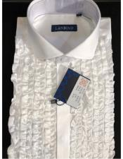 Lay Down Tuxedo White Dress Shirt