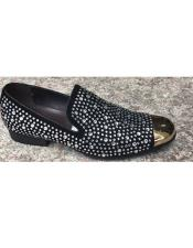 Black Sparkle Loafer Unique Zota Mens Dress Shoe