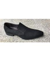 Black Slip On Unique Zota Mens Dress Shoe