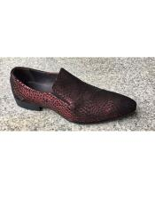 Burgundy Slip On Unique Zota Mens Dress Shoe