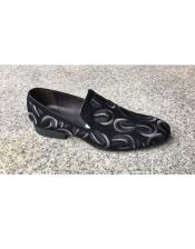Pattern Black Slip On