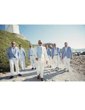 Beach Wedding Attire Suit Menswear Blue ~ White $199