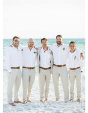 Mens Beach Wedding Attire Suit Menswear Off-White