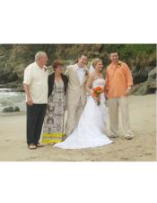 Beach Wedding Attire Beige Suit