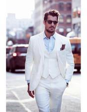 Beach Wedding Attire Suit Menswear White $199