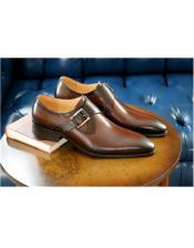 Chestnut Wrapped Goldtone Slip On Carrucci Shoe